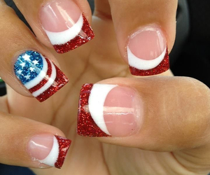 flag, fourth of july, and glitter image