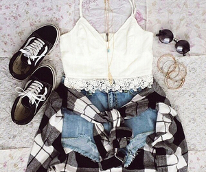 outfit, style, and vans image