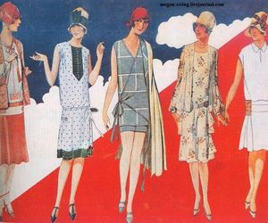 1920s, dresses, and fashion image