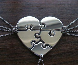 heart, friends, and friendship image