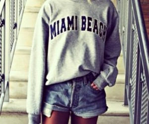 girl, fashion, and Miami image
