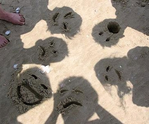 face, beach, and sand image