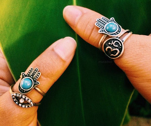 hippie, jewelry, and rings image