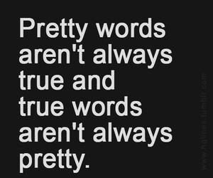quotes, true, and words image