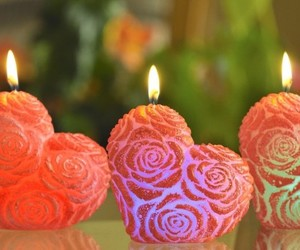 hearts, candles, and love image