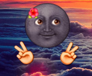 emoji, moon, and peace image