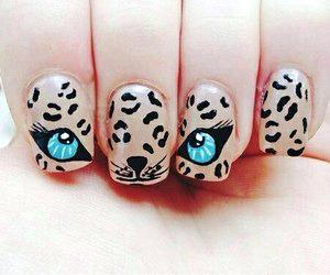 nails, eyes, and nail art image