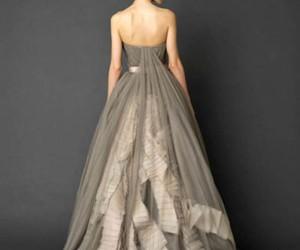 dress, Vera Wang, and grey image