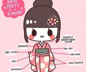 kimono, kawaii, and japanese image