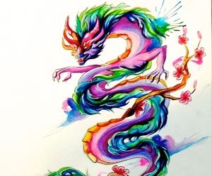 asian, design, and dragon image