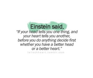 einstein, heart, and quote image