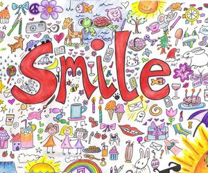 drawing, happy, and smile image