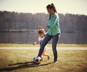 ball, girl, and river image