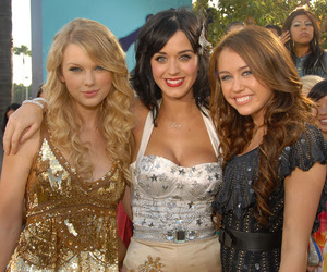 miley cyrus, Taylor Swift, and katy perry image