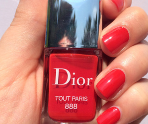 nails, dior, and red image