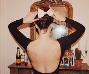 backless, girl, and bow image