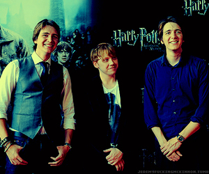 james phelps, oliver phelps, and rupert grint image
