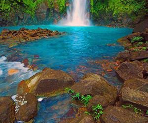 nature, waterfall, and costa rica image