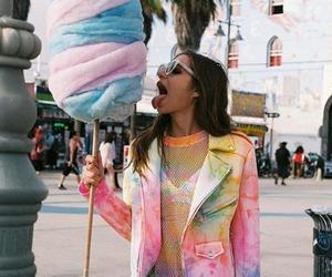 girl, candy, and cotton candy image