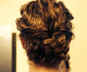 braid, brunette, and cocktail image