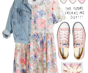 converse, dress, and Polyvore image