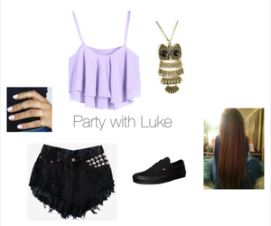 outfit, party, and 5sos image