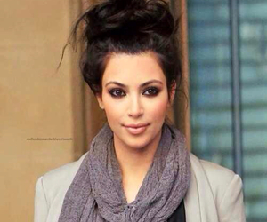 kim kardashian, hair, and kardashian image