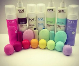 eos, lip balm, and makeup image