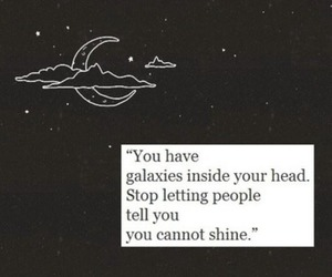 galaxy, quote, and shine image