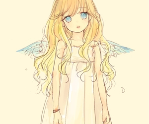 anime, angel, and anime girl image
