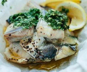 butter, parsley, and fish image