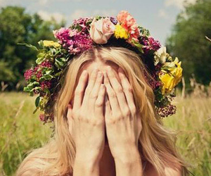 bohemian, boho, and flower crown image