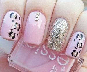 nail art, nails, and cheetah print nails image