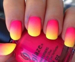 nails, pink, and yellow image