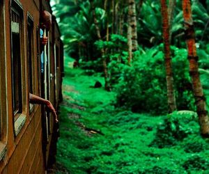 green, train, and beautiful image