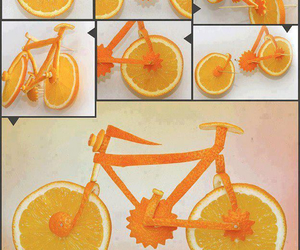 orange, diy, and bike image