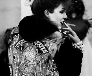 girl, black and white, and punk image