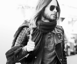 black and white, jared leto, and 30 seconds to mars image