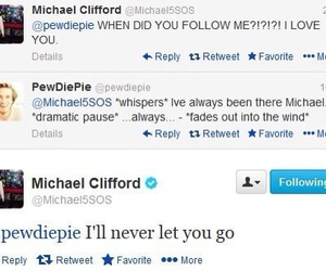 pewdiepie, 5sos, and michael clifford image