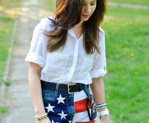 american flag, fashion, and outfit image