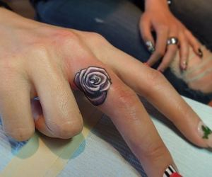 girl, rose, and purple image