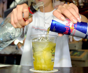 drink, red bull, and alcohol image