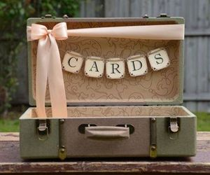 card box, cards, and old image