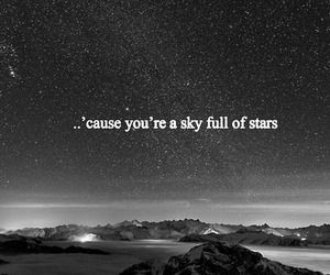 coldplay, sky, and stars image