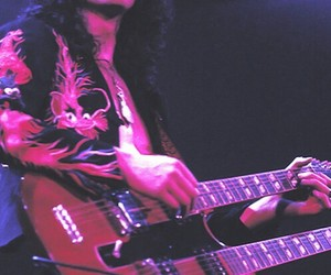 jimmy page, led zepp, and double neck sg image