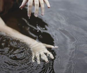 water, hands, and photography image