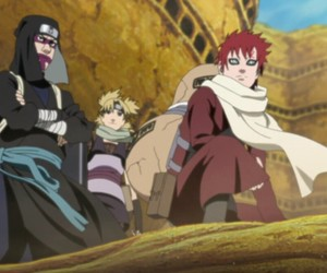 gaara, naruto, and temari image