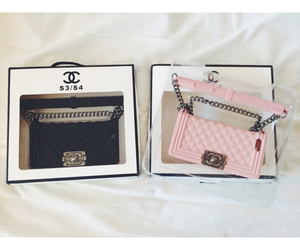 chanel, pink, and black image