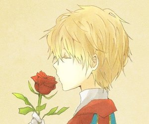 rose, anime, and blonde image