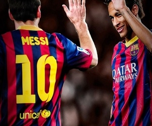 soccer, neymar, and fcb image
